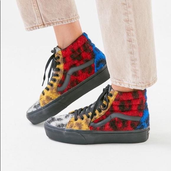 Vans Shoes   Vans Sk8hi Platform Mixed